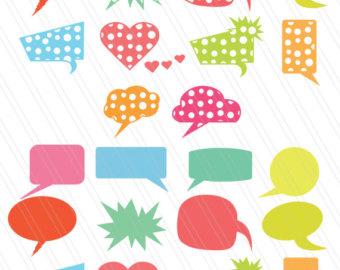 Bubble clipart dialogue bubble DXF bubble bubbles bubble balloon