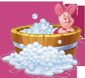 Bubble clipart disney Clipart Bubble  Bath Piglet