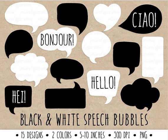 Drawn bubble Speech Clip  Bubble Hand