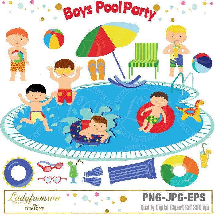 Bubble clipart pool party Pool Boys 20+ Party pool