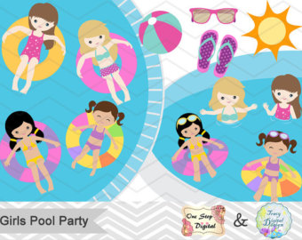 Bubble clipart pool party Party Instant BUBBLE Clip Clipart
