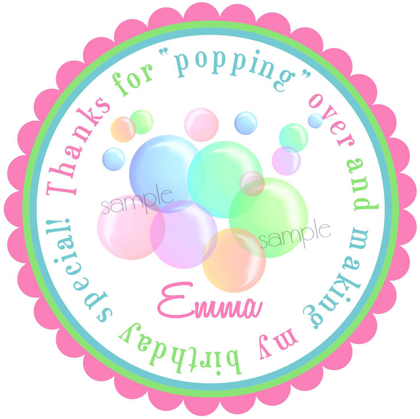 Bubble clipart pool party Blowing $6 party NEW Birthday