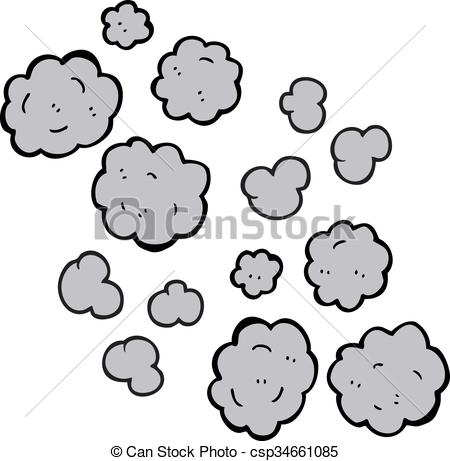 Drawn clouds doodle Clouds smoke Vector clipart cartoon