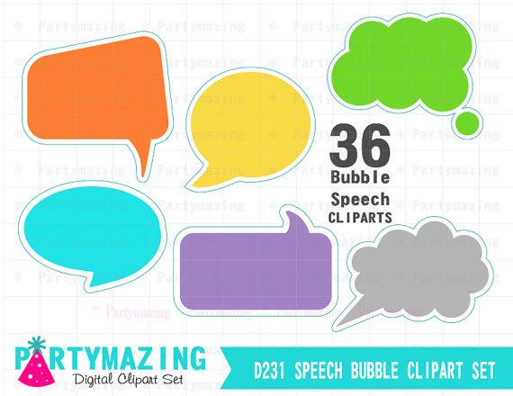 Bubble clipart speach 6 bubbles Speech colors Speech