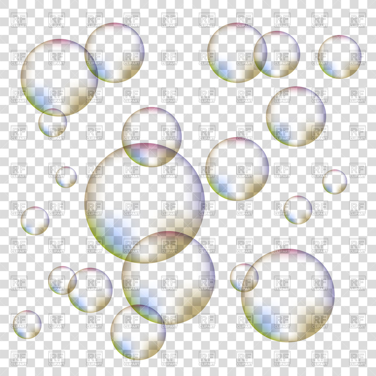 Bubble clipart transparent background Colorful background foam Bubbles of