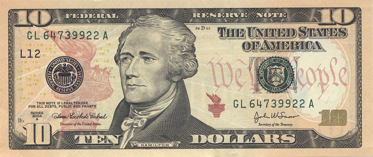 Buck clipart 10 dollar Dollar Wikiwand Amerikansk