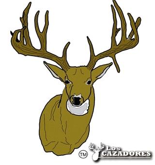 Buck clipart 12 point 7/8