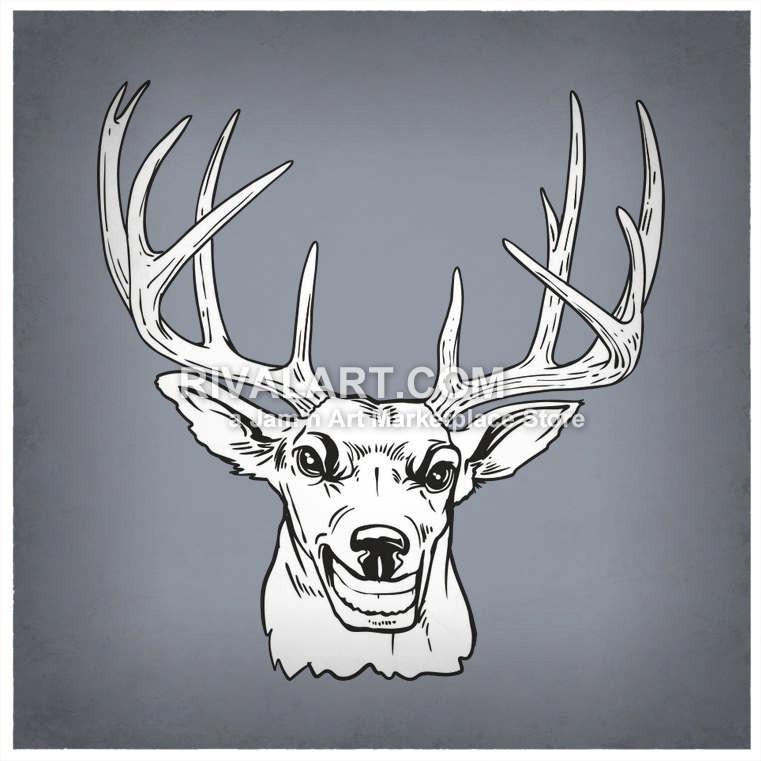 Buck clipart 12 point Clip Bucks 12 art and