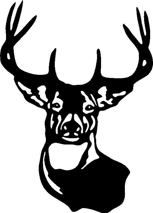 Buck clipart 12 point Sticker  LARGE DEER Car
