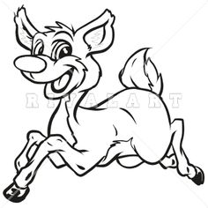 Buck clipart mean Graphic White Black Jumping Mean