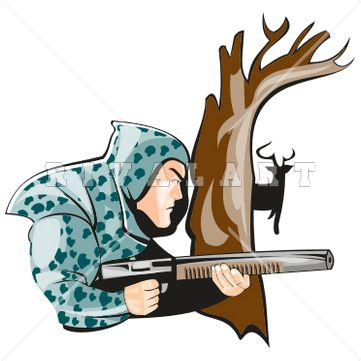 Buck clipart mean Hunter Hunting Graphic on Image