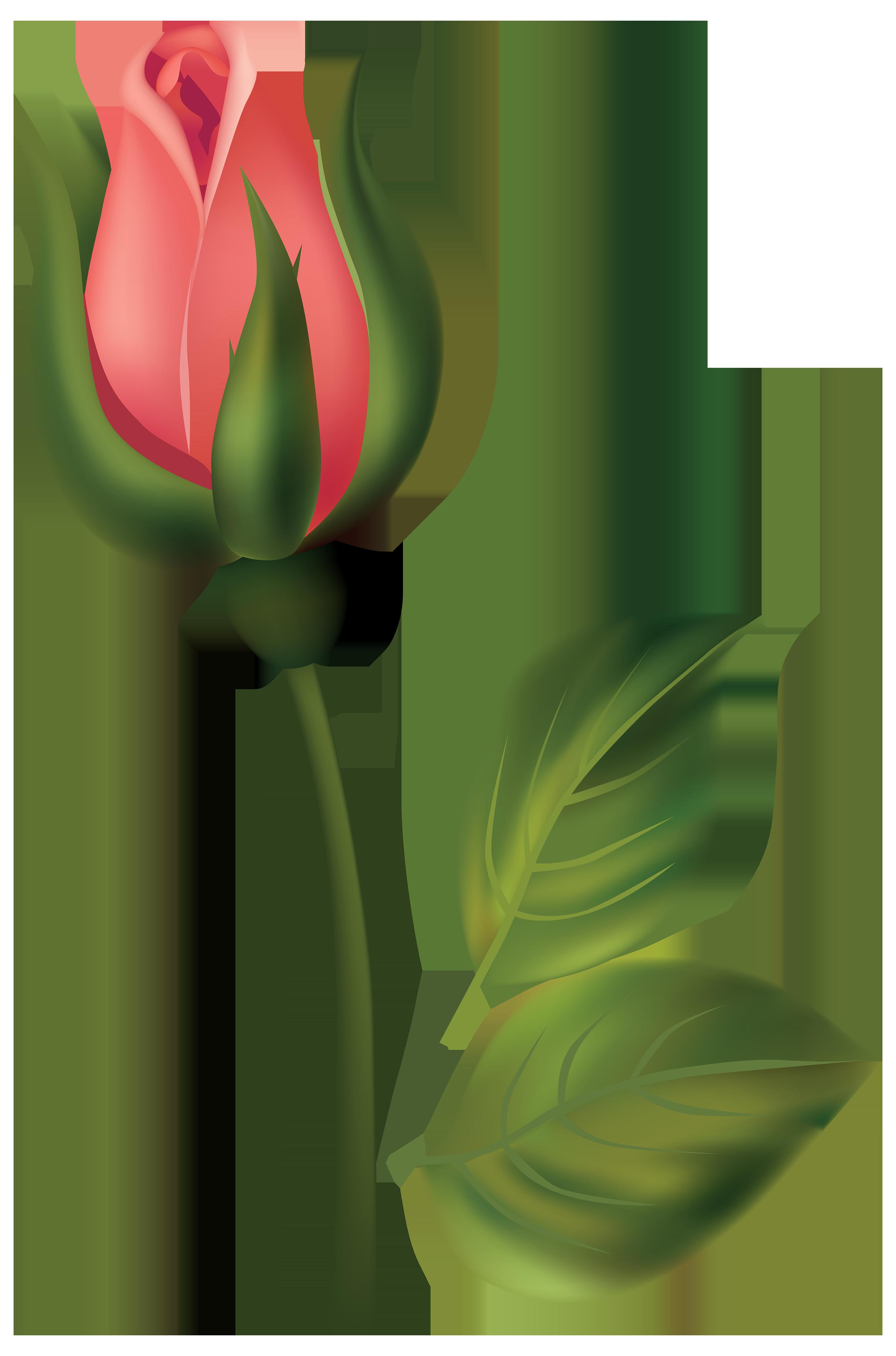 Red Flower clipart stem clipart Bud Art Download Rose Art