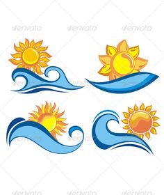 Bud clipart sun water Clip Ocean Sun Waves with
