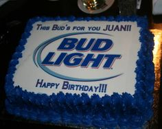 Bud Light clipart happy birthday WITH A  Cake light