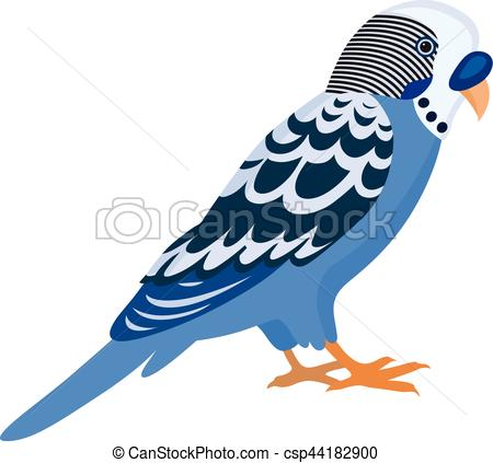 Budgerigar clipart With feathers budgerigar with csp44182900