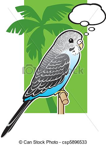 Budgie clipart blue and yellow  Parakeet a Vectors Blue