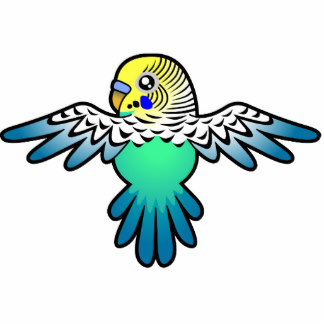 Budgie clipart blue and yellow Gifts Cutout Budgie Zazzle Cartoon