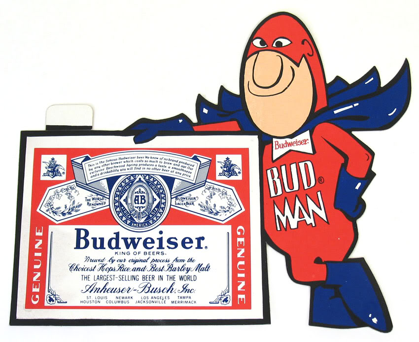 Budweiser clipart anheuser busch Stickers from Unused Budman the