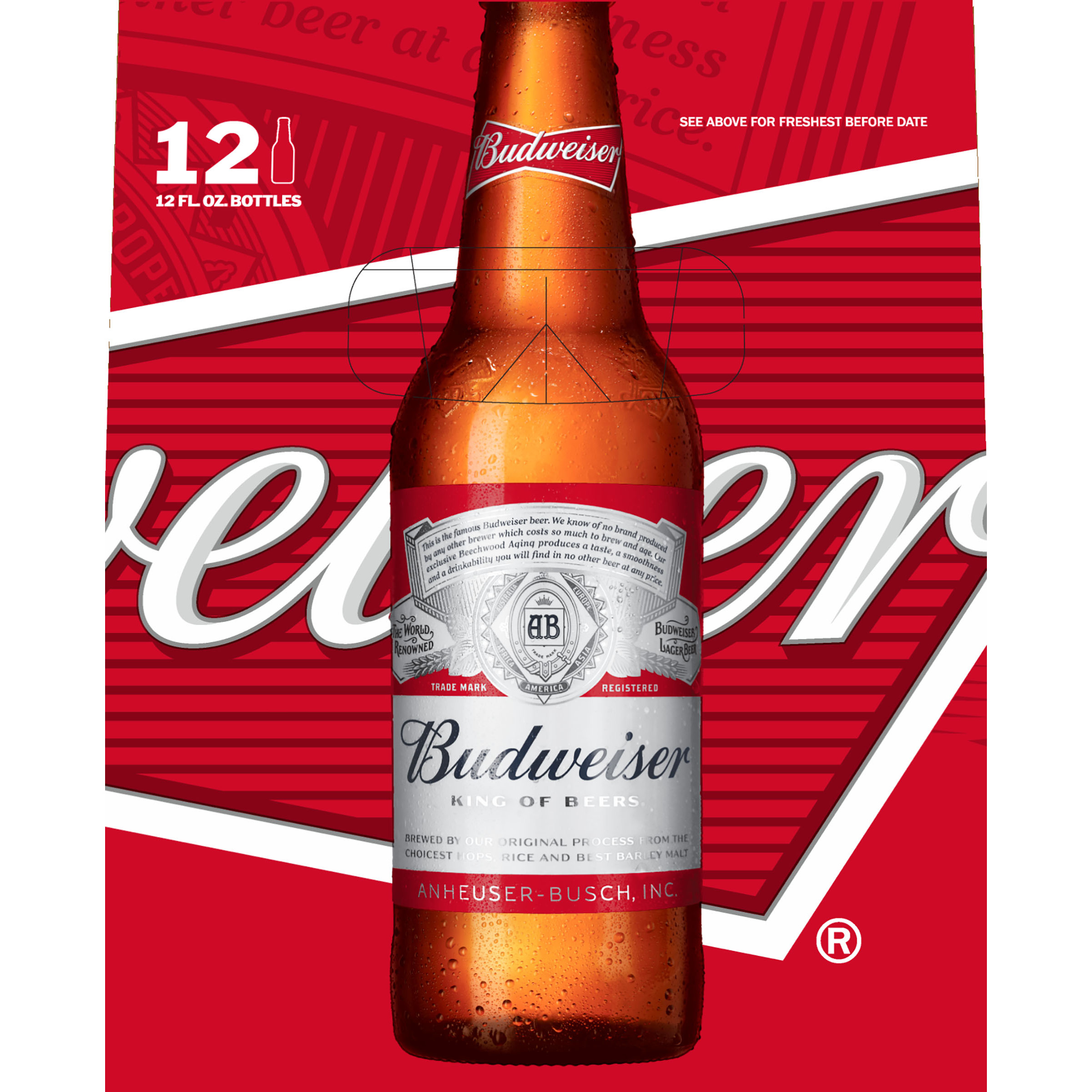 Budweiser clipart beer bottle Walmart 12  12 Budweiser