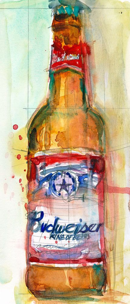 Budweiser clipart beer bottle Perfect Cave College Giclee Budweiser
