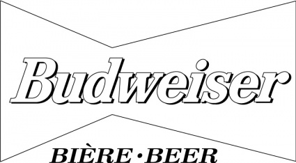Budweiser clipart black and white Art Vector Clipart Art Free