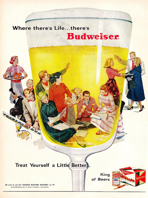 Budweiser clipart vintage A beer signs here Click