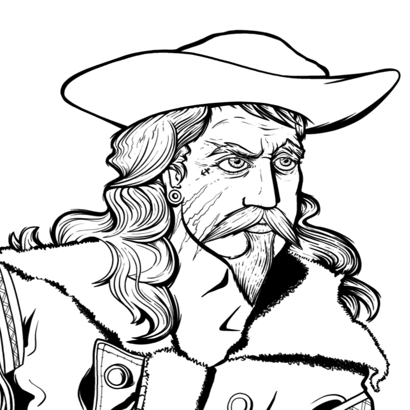 Buffalo Bill clipart black and white Bill Buffalo 1 Domestika Bill