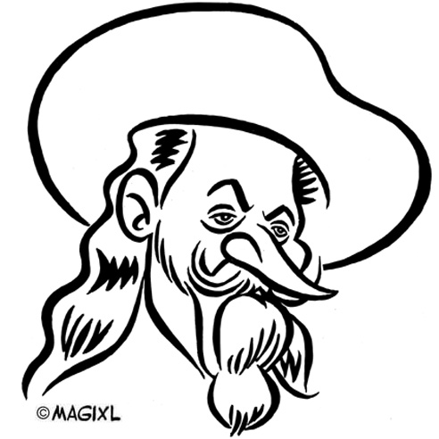 Buffalo Bill clipart black and white Historical Buffalo Caricature celebrities Bill