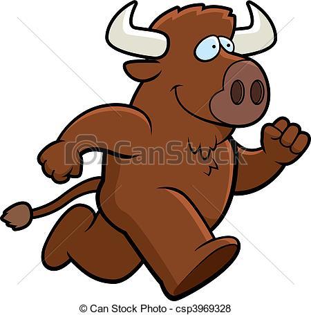 Buffalo clipart Happy Clip and buffalo running