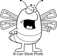 Bug clipart angry Cartoon insect with Angry