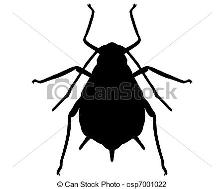 Bug clipart aphid  Silhouette csp7001022 Aphid Search