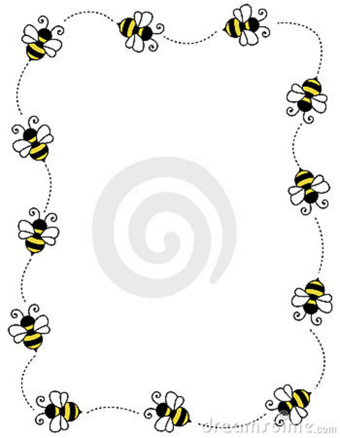 Bugs clipart border Frame Free Image: Bee Free