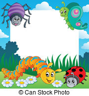 Bugs clipart border Illustration theme and  bugs