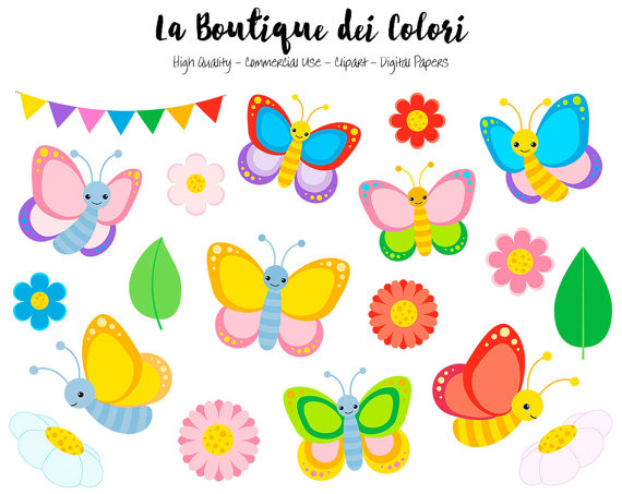 Bugs clipart butterfly Colorful Graphics PNG Clipart Colorful