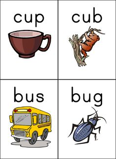 Bugs clipart cvc word  short com/phonics/cvcU1 words cvc
