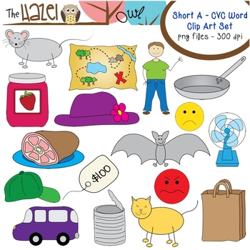 Bugs clipart cvc word Short Set Word Clip Word
