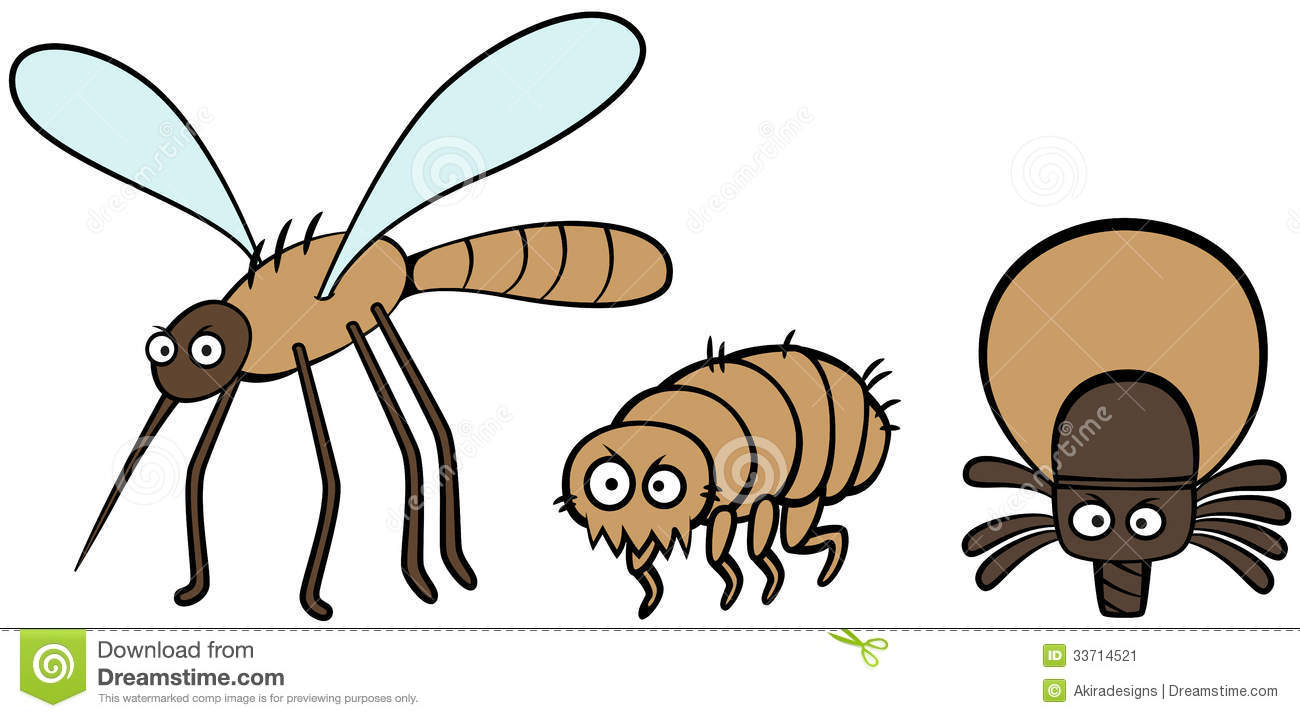 Bugs clipart flea Tick And Mosquito Parasites clipart