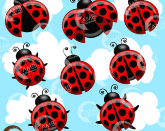 Bug clipart jungle Ladybugs Halloween Little use commercial