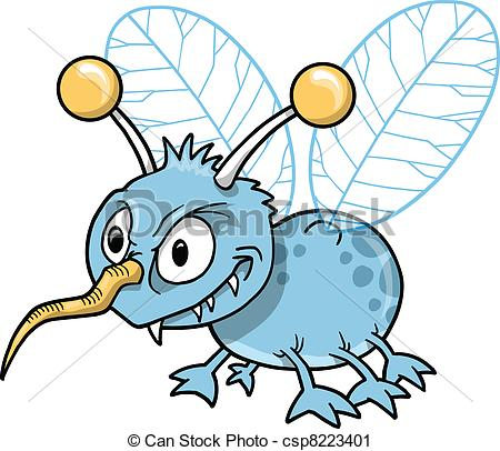 Bugs clipart mean Vector csp8223401 Illustration  Nasty