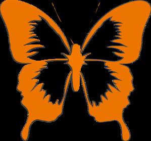 Bugs clipart orange butterfly Clker Butterfly Art online vector