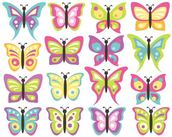 Bug clipart pastel butterfly Pastel this Butterflies Set Like