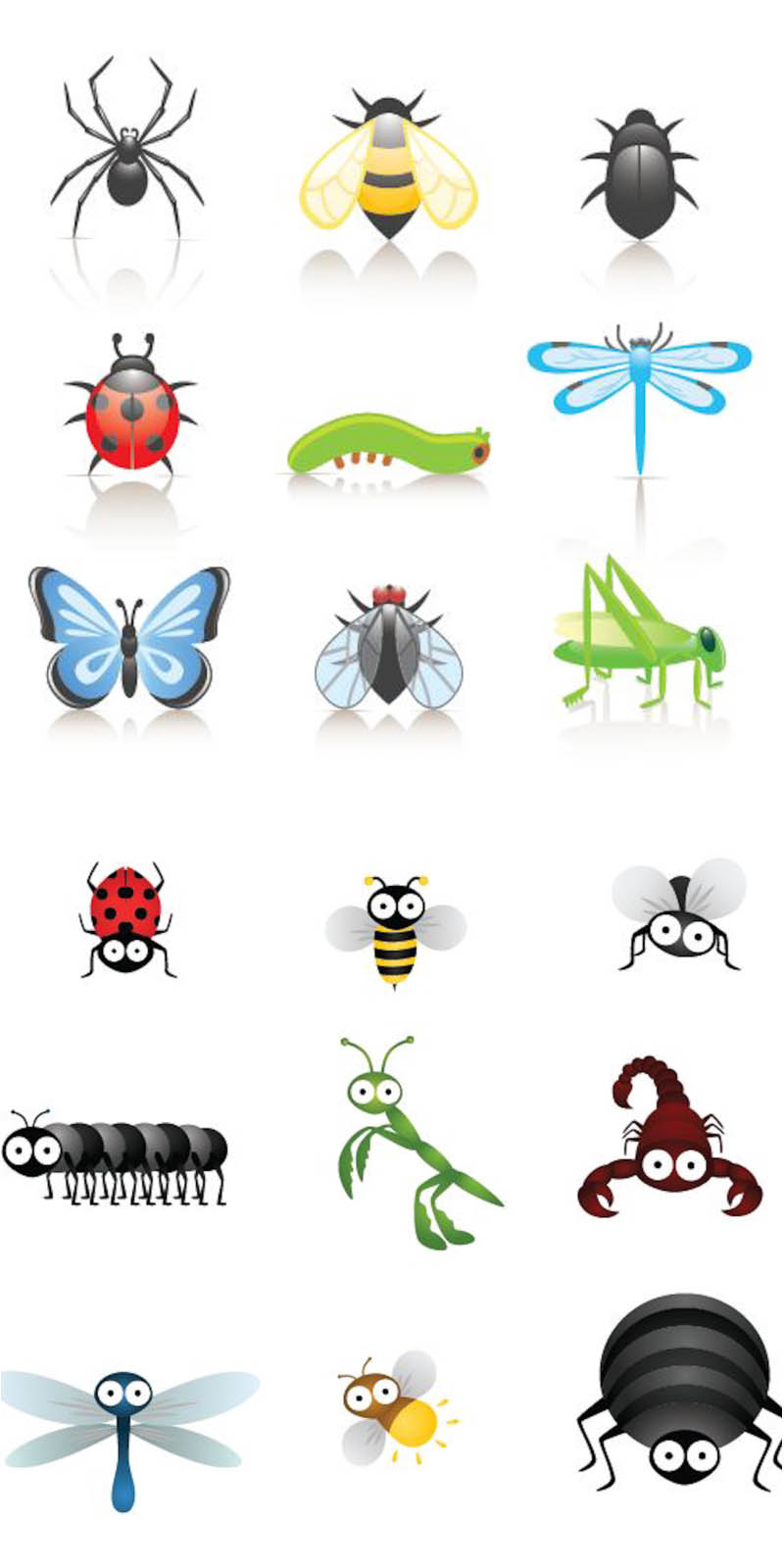Bugs clipart printable Vector Cute Cute  Cartoon+Bugs+Clip+Art
