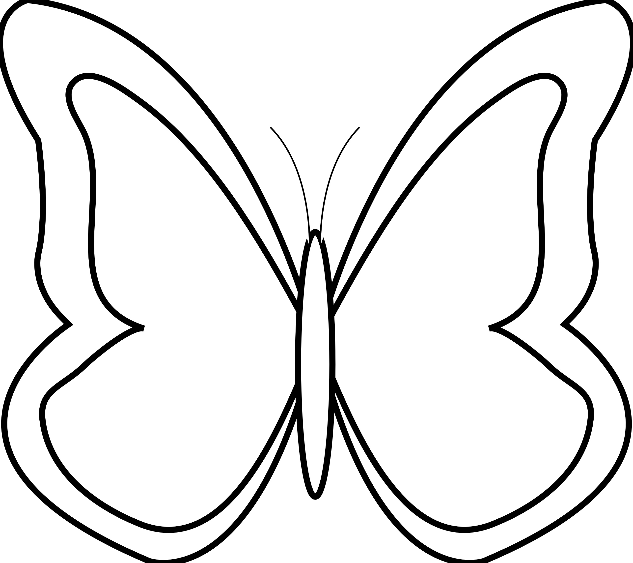 Bug clipart simple butterfly Clipart Art Image  Butterfly