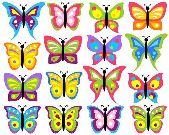 Bug clipart simple butterfly Clipart Colorful clipart butterflies butterflies