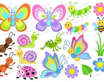 Bug clipart simple butterfly Digital bugs Cute by Cute