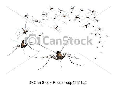 Bugs clipart swarm Swarm Mosquito  Clipart