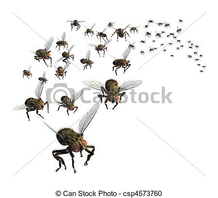 Bugs clipart swarm Swarm Illustration Illustration Flies a