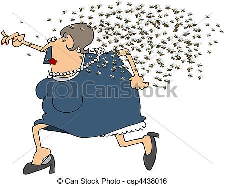 Bugs clipart swarm From Running  Bees Swarm
