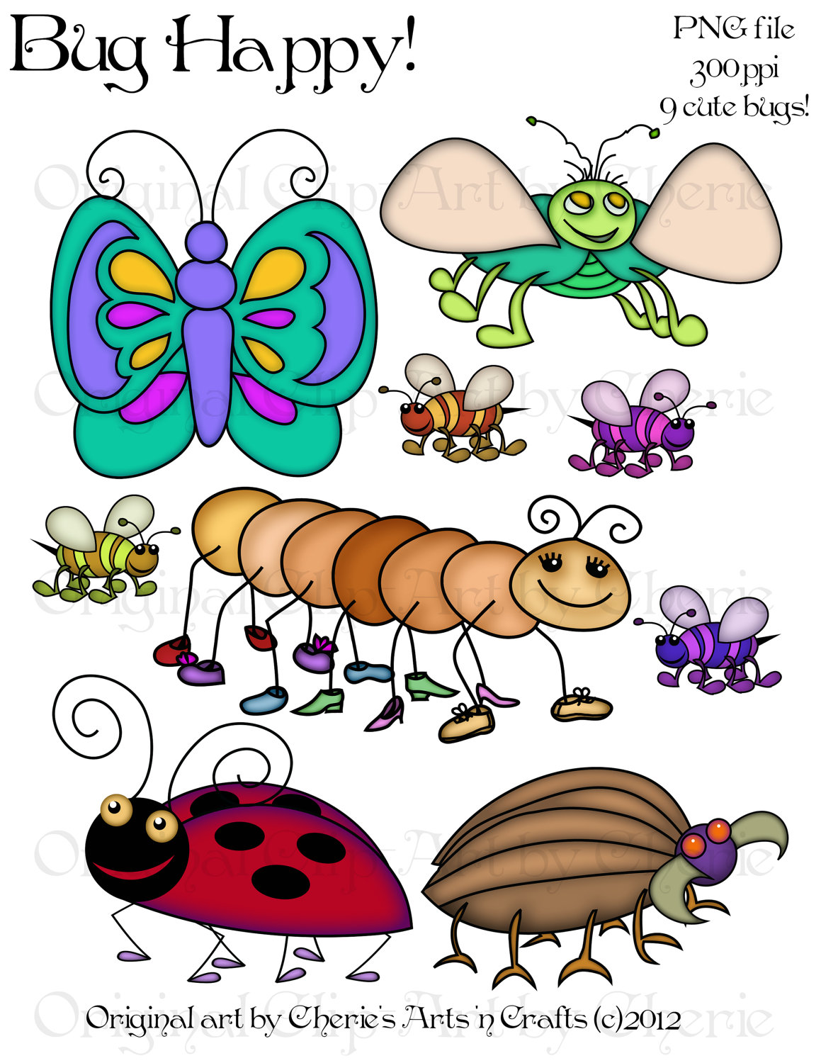 Bug clipart whimsical Art Bug Clip by Whimsical