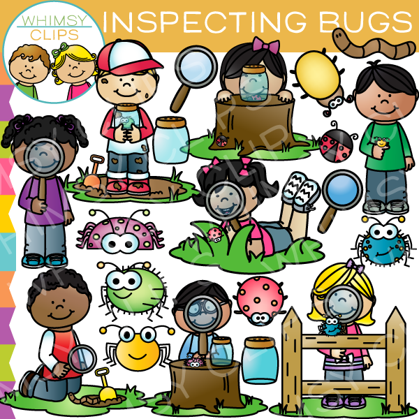 Bug clipart whimsical Inspecting & Kids Clips Illustrations